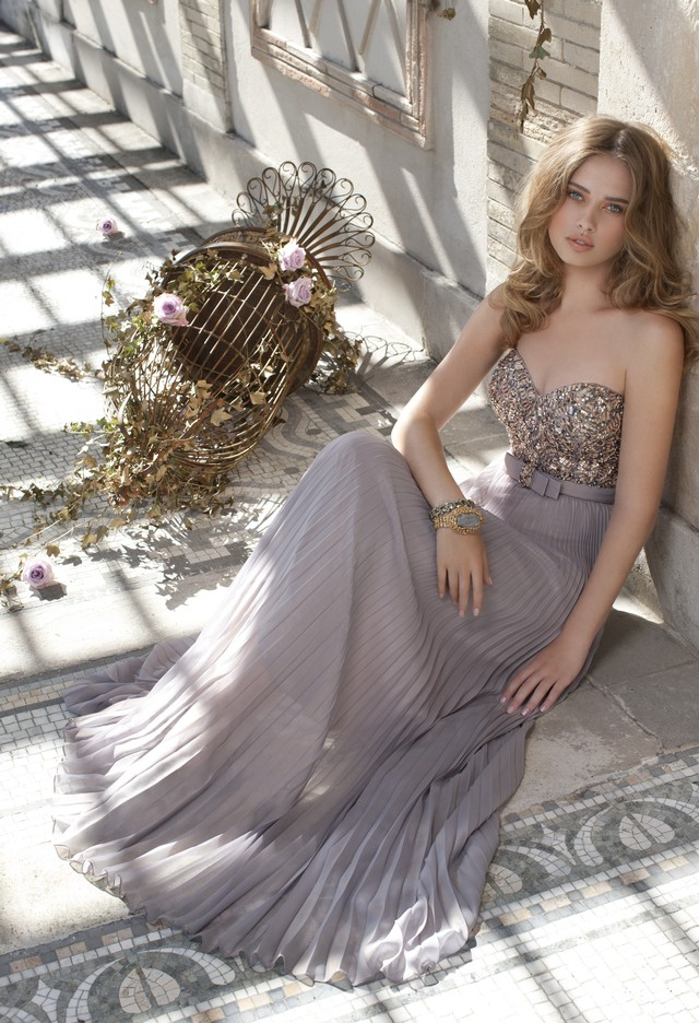 Bridesmaid Dresses Metallic Chiffon Strapless Dress From Camille Camille Wedding Dresses
