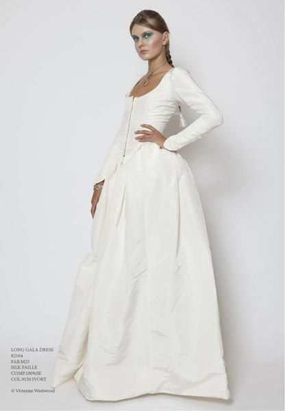 Fig Long Gala Dress Silk Faille In Ivory Of the Wedding Vivienne Westwood Wedding Dresses
