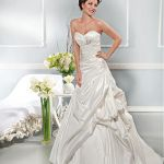 Heart Shaped Neckline Wedding Dresses Alluring Taffeta Sweetheart Neckline Natural Waistline A Line