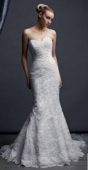 Oleg Cassini Wedding Dresses Sweatheart Mermaid Style Wedding Dress
