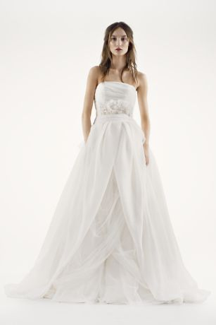 Vera Wang Dresses Wedding White by Vera Wang Draped organza Wedding Dress Style 4xlvw