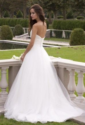 Wedding Dresses Strapless Taffeta Wedding Dress with Mesh Skirt Camille Wedding Dresses