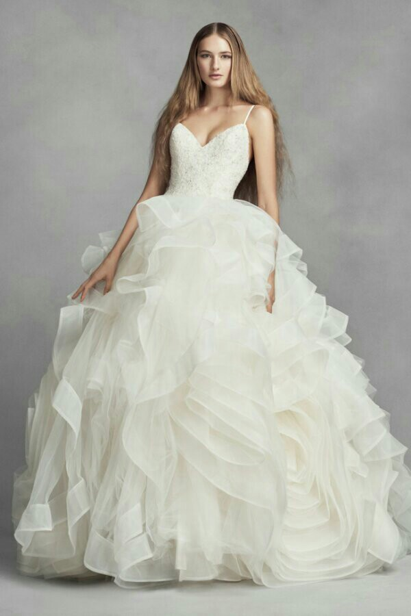 White by Vera Wang Collection for David S Bridal Vera Wang Dresses Wedding