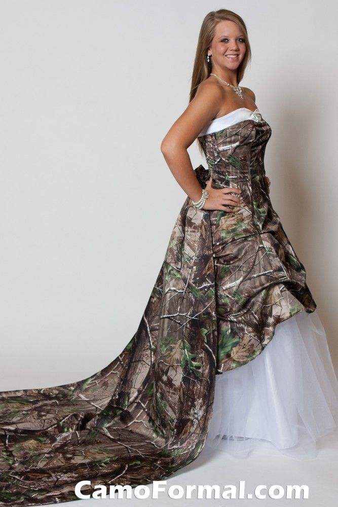 Strapless Camo Wedding Dresses 14 Best Camo Wedding Dresses Images On Pinterest